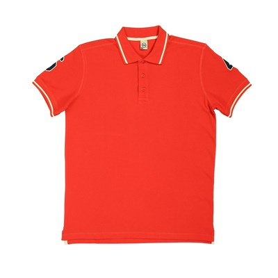 Double Patch - Polo - rouge