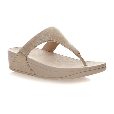 Fitflop Shimmy suede toe-Post - tongs - or