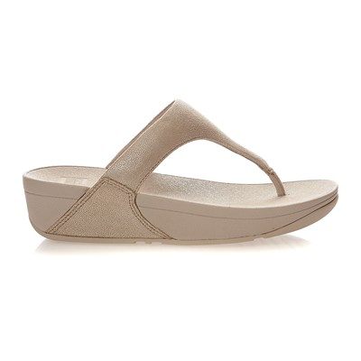 SHIMMY SUEDE TOE-POST - Tongs - or