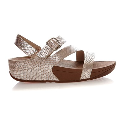 THE SKINNY Z-CROSS SANDALS (SNAKE) - Sandales - argent