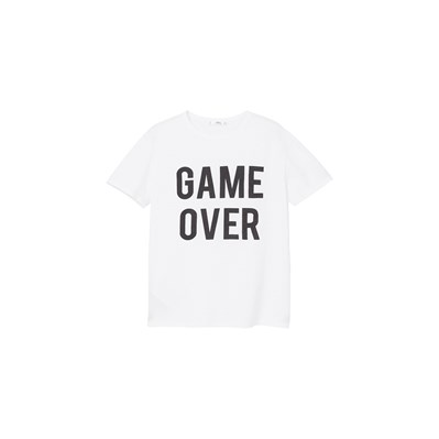 T-shirt en coton Game Over - blanc