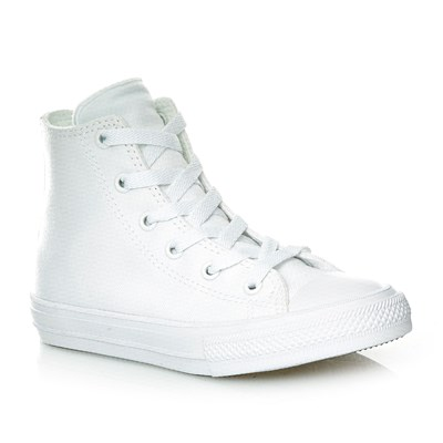 CHUCK TAYLOR ALL STAR II HI WHITE/WHITE/NAVY - Baskets montantes - blanc