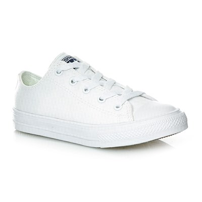 CHUCK TAYLOR ALL STAR II OX WHITE/WHITE/NAVY - Baskets - blanc