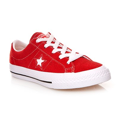 ONE STAR OX RED/WHITE/GUM - Baskets en cuir suédé - rouge