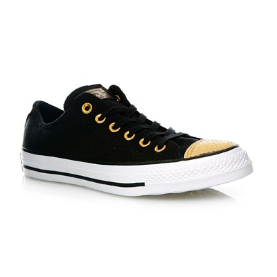 CHUCK TAYLOR ALL STAR OX BLACK/GOLD/WHITE - Baskets - noir