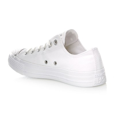 CHUCK TAYLOR ALL STAR OX WHITE/SILVER/WHITE - Baskets - blanc