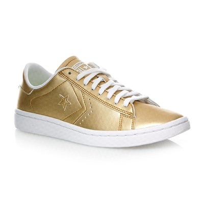 PL LP OX LIGHT GOLD/WHITE/WHITE - Baskets en cuir - doré