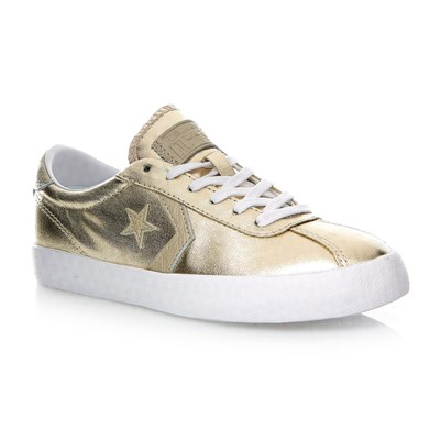 BREAKPOINT OX LIGHT GOLD/WHITE/WHITE - Baskets en cuir mélangé - or