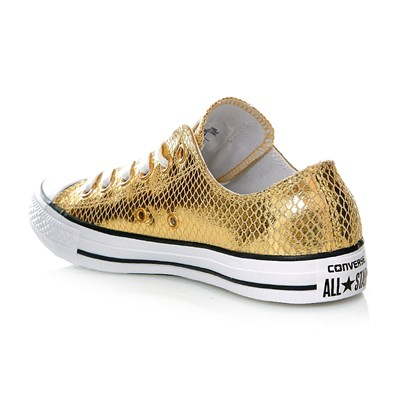 CHUCK TAYLOR ALL STAR OX GOLD/BLACK/WHITE - Baskets en cuir - or
