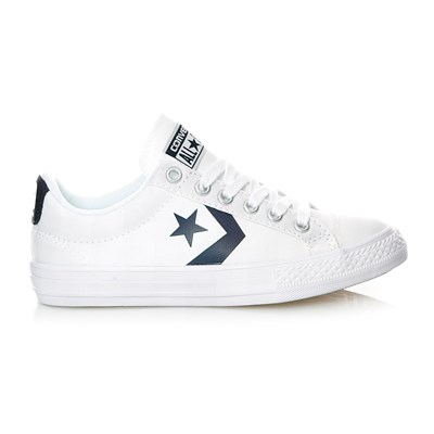 STAR PLAYER EV OX WHITE/ATHLETIC NAVY - Baskets - blanc