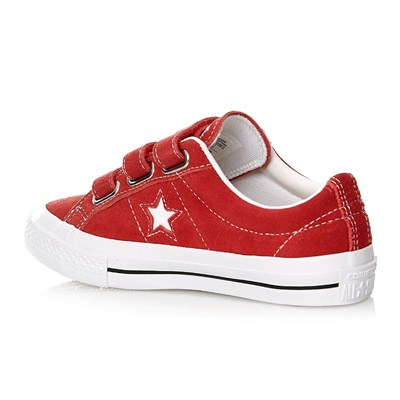 ONE STAR 3V OX RED/WHITE/BLACK - Baskets - rouge