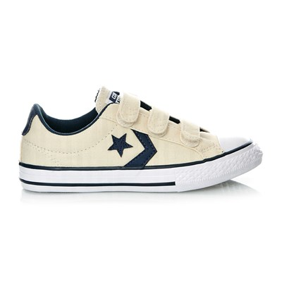 STAR PLAYER 3V OX NATURAL/NAVY/WHITE - Baskets - ecru