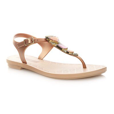 JEWEL SANDAL - Tongs - beige