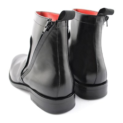 EXCLUSIF PARIS Borys - Bottines en cuir - noir