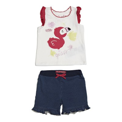 Ensemble t-shirt et short - tricolore