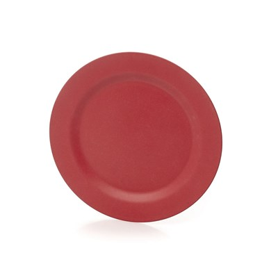 Home And styling assiette en fibre de bambou - rouge