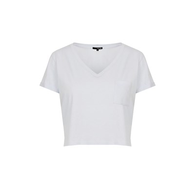 Cropped Top - blanc