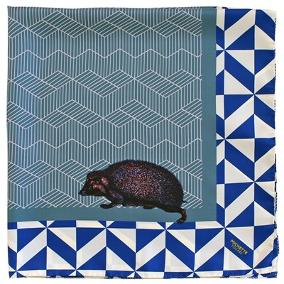 The Hedgehog - Foulard en soie - imprimé