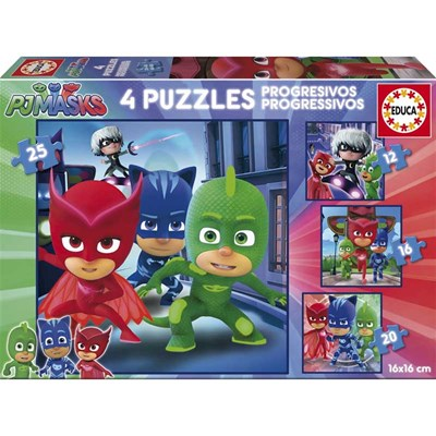 Educa Puzzles progressifs pyjamasque - multicolore