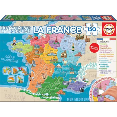 Educa Puzzle france - multicolore