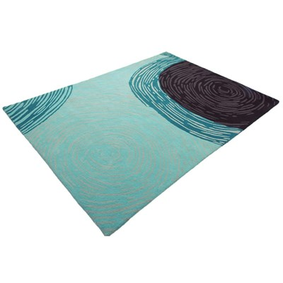 Ateliers Leclercq toma - tapis en laine - turquoise