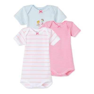Lot de 3 bodies - rose