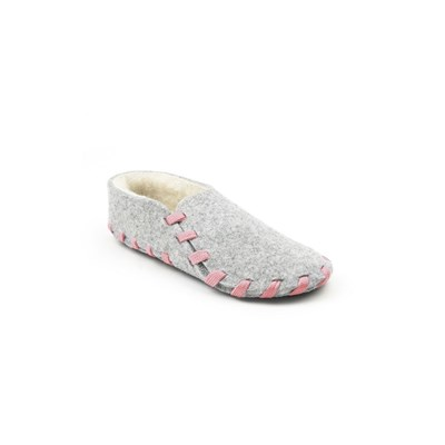 Chaussons lainé adulte - rose