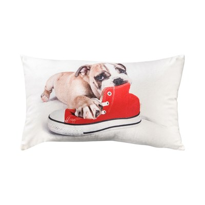 Ifilhome Doggy - coussin rectangulaire - blanc