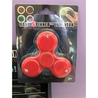 Rd Bijoux hand spinner lumineux - rouge