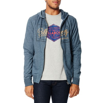 Billabong Baldwin zip hood - sweat à capuche - gris foncé