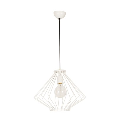 Moira Suspension, lustre - blanc