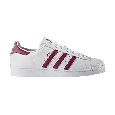 Adidas originals superstar baskets en cuir mélangé blanc