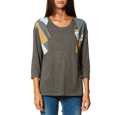 Benetton T-Shirt manches longues - anthracite