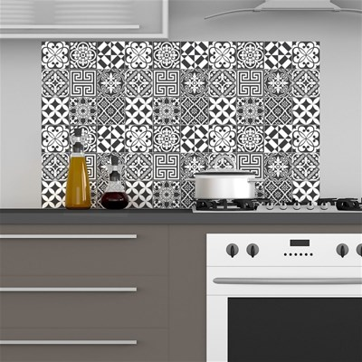 Ambiance Live 60 stickers carrelages traditionnels - multicolore