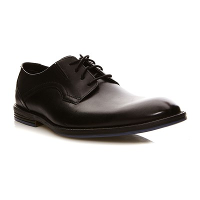 Clarks Prangley walk black leather - derbies en cuir - noir