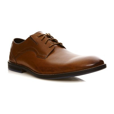 Clarks Prangley walk british tan - derbies en cuir - bronzage