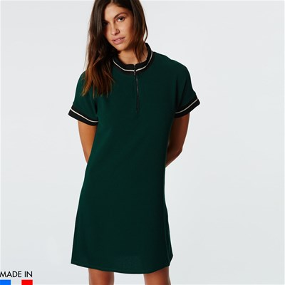 BrandAlley La Collection Riya - Robe polo à liserets contrastants - vert