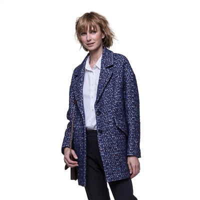 Trench And coat manteau oversize - bleu
