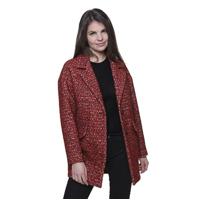 Trench And coat manteau oversize - rouge