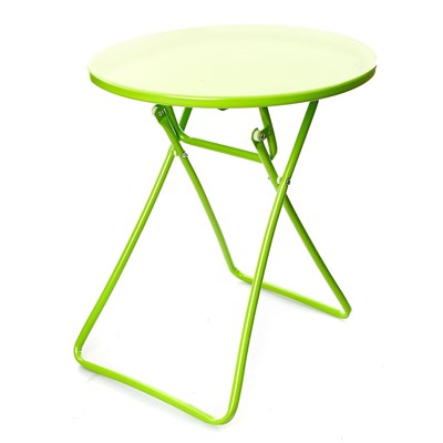 Home And styling table bistro pliable en métal - vert