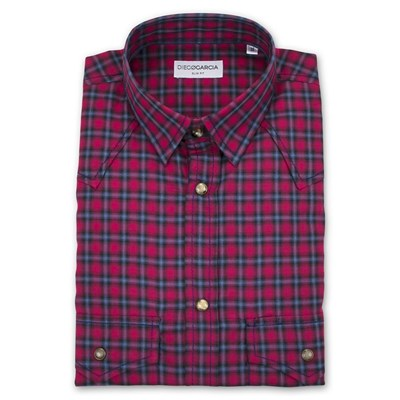 Diego Garcia Greenwich - Chemise manches longues - bordeaux