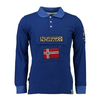 Geographical Norway Polo manches longues - bleu