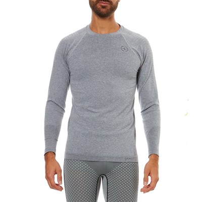 Damart Sport Active Body - T-shirt manches longues Thermolactyl Degré 2 - gris chine