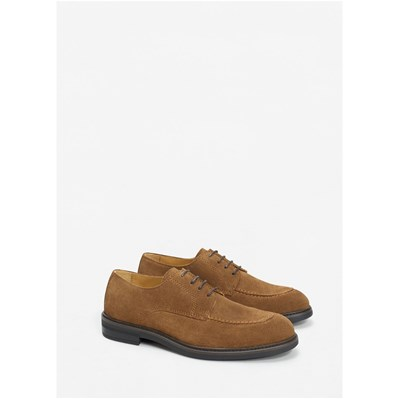 Mango Man Derbies en cuir - marron