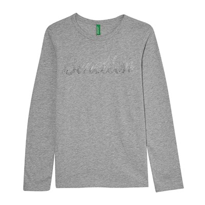 Benetton T-Shirt manches longues - gris chine
