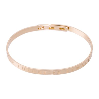 Bam The Future Is Female - Pulsera jonc - rosa