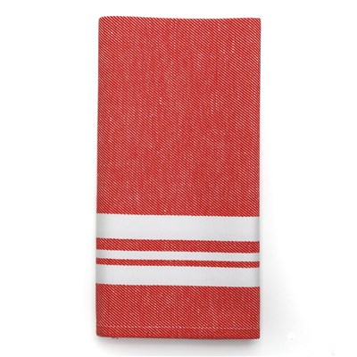 Jean Vier saint jean de luz - serviette de table - rouge