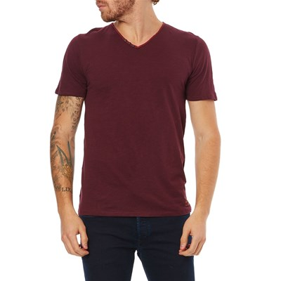 Teddy Smith tager - t-shirt manches courtes - bordeaux