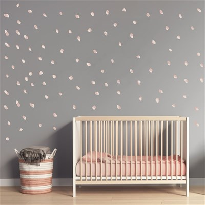 Art For kids stickers dots roses