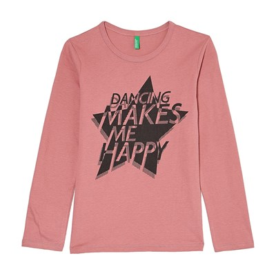 Benetton T-Shirt manches longues - rose